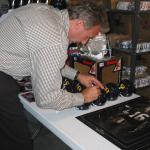 49er Joe Montana autographing at National Sports Distributors in Cotati, CA.