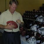 Phil simms autographiong for National Sports!