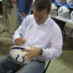 Peyton Manning signing helmets for NSD!