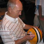 Bart Starr signing for National Sports Distributors