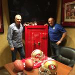 Joe Montana and Bill McAnally at BMR Racing