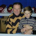 Len Dawson with NSD owner's son Tyler Hemphill