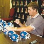 John Elway autographing for National Sports Distributors