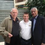 NSD Representative Justin Hemphill with 49ers John Brodie and Gene Washington