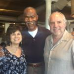 49ers Jimmy Johnson with Joan and Rob Hemphill at Jimmy's 80th Birthday Party!