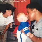 Muhammad Ali kissing owner's son
