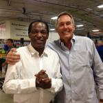 Cliff Branch and Dwight Clark at event for NSD