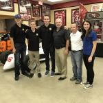 Rob Hemphill with upcoming NASCAR drivers for NAPA Auto Parts