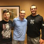 NSD employess Tyler and James with Derek Carr