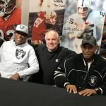 Raiders Cliff Branch and Willie Brown with Rob Hemphill at NSD