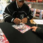 Raiders Willie Brown signing at National Sports Distributors