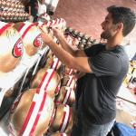 49ers Jimmy Garoppolo Signing Helmets for NSD