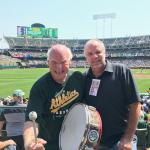 Krazy George and NSD Rob Hemphill at the Athletics Game
