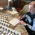Raiders Jim Otto autographing for NSD