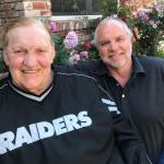 Mr Raider Jim Otto with NSD Robert Hemphill