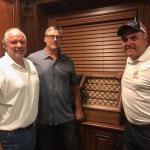 Rob Hemphill, Tom Rathman and NASCAR team owner Bill McAnally