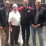 49er Jimmy Johnson, NSD Robert Hemphill, Russ Francis and Dave Wilcox
