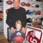 Joe Montana makes everyone feel special at National Sports Distributors