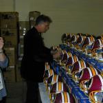 John riggins signing helmets for NSD