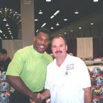 Hershel Walker with NSD owner Robert Hemphill