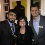 Sergio Romo, NSD Joan Barakett and Joe Panik, SF Giants
