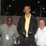 Kareem Jabbar with NSD Alvin Hall and NSD owner Robert Hemphill