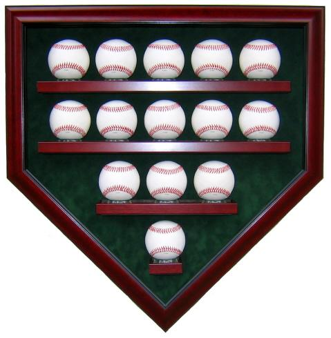 14 Baseball Display Case - Homeplate Shape - High Quality