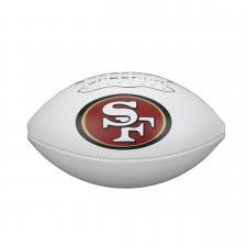 34cd3476e Jimmy Garoppolo Autographed Football - 49er Logo White Panel ...