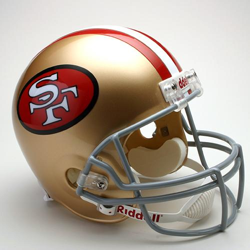 9600046401a San Francisco 49ers Helmet Throwback 1964-95 Deluxe Replica Full Size by  Riddell. «