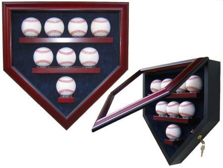 7 Baseball Display Case Any Team Homeplate Shape