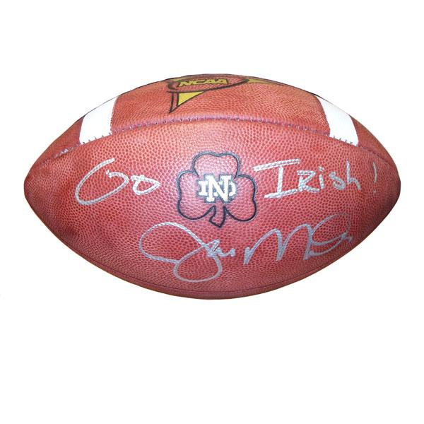 the best attitude 7ec77 ae693 Joe Montana Autographed Football - Notre Dame Game Ball with ...