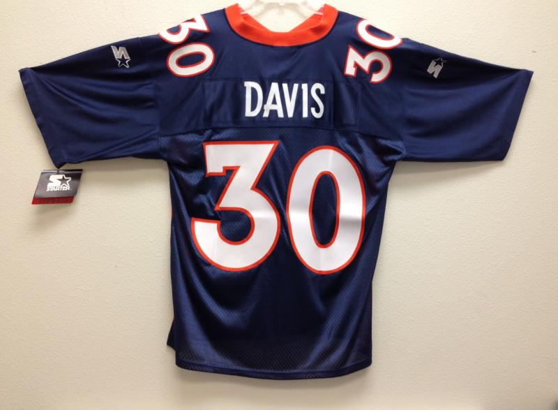 Terrell Davis Almost Authentic Broncos Jersey by Starter Navy size ...
