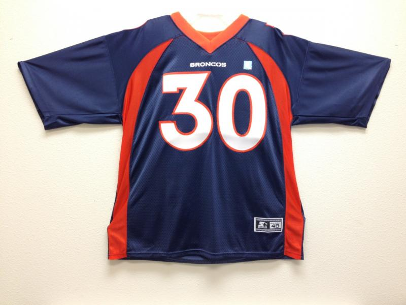 best service 1312f 4a552 Terrell Davis Almost Authentic Broncos Jersey by Starter ...
