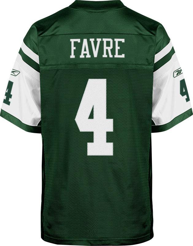 1f9cfc84f63 Brett Favre Authentic New York Jets Jersey by Reebok, Green, size 52 ...