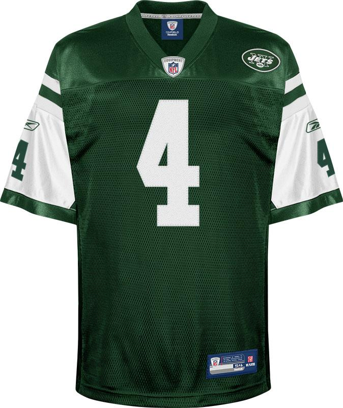 Brett Favre Authentic New York Jets Jersey by Reebok, Green, size ...