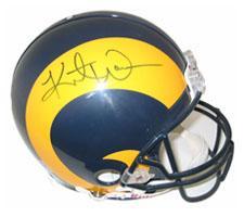 59e3f8cbd48 Kurt Warner Autographed St. Louis Rams Throwback Pro Line Helmet by  Riddell. «