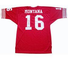 5c2c6d410fa Joe Montana Autographed Jersey Authentic San Francisco 49ers Red ...