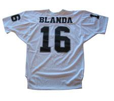 George Blanda Authentic Oakland Raiders Old Style Jersey, White ...