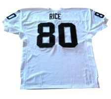 the best attitude 8cb24 c74f3 Jerry Rice Authentic Oakland Raiders Jersey by Reebok, White ...