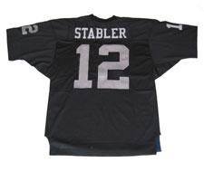 Ken Stabler Authentic Oakland Raiders Old Style Jersey, Black ...