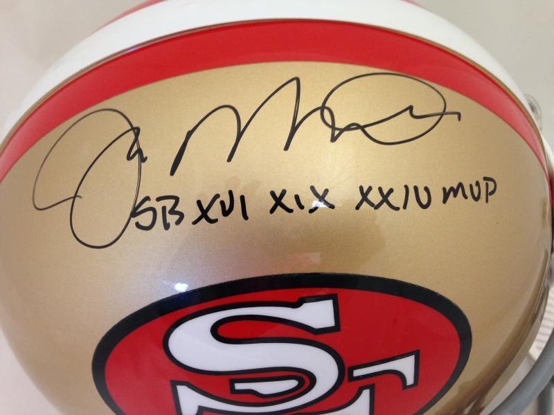 the latest af0c8 f61a9 Joe Montana Autographed Helmet 49ers Throwback Pro Line ...