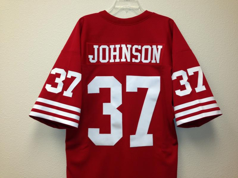 Jimmy Johnson Jersey Authentic San Francisco 49ers Red, size 46 ...