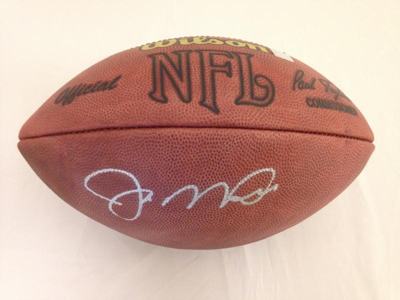 best cheap 6ba3d e4681 Joe Montana Autographed Tagliabue NFL Game Football   Sports ...