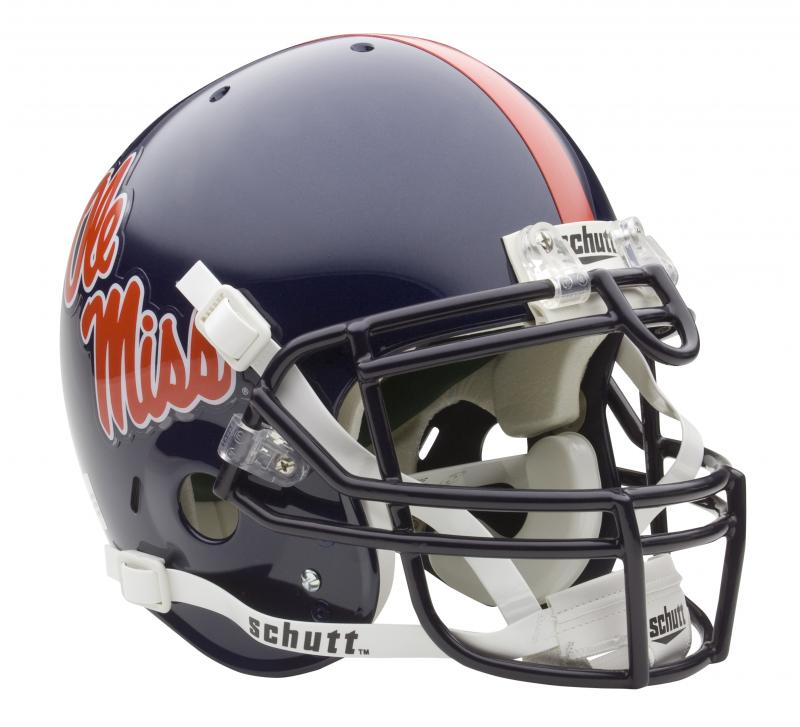 Mississippi Ole Miss Rebels Full Size Authentic Helmet by Schutt ... af1fe99a3