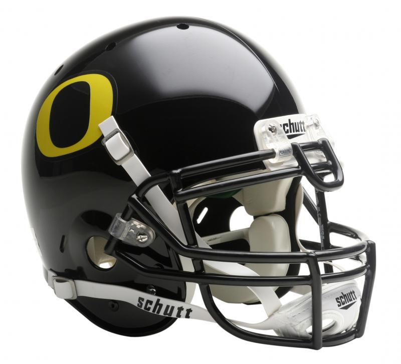 4d0d4f80785 Oregon Ducks Full Size Authentic Black Helmet by Schutt