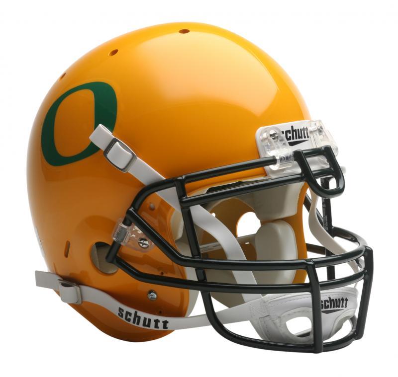 59aa4a4d672 Oregon Ducks Full Size Authentic Gold Helmet by Schutt