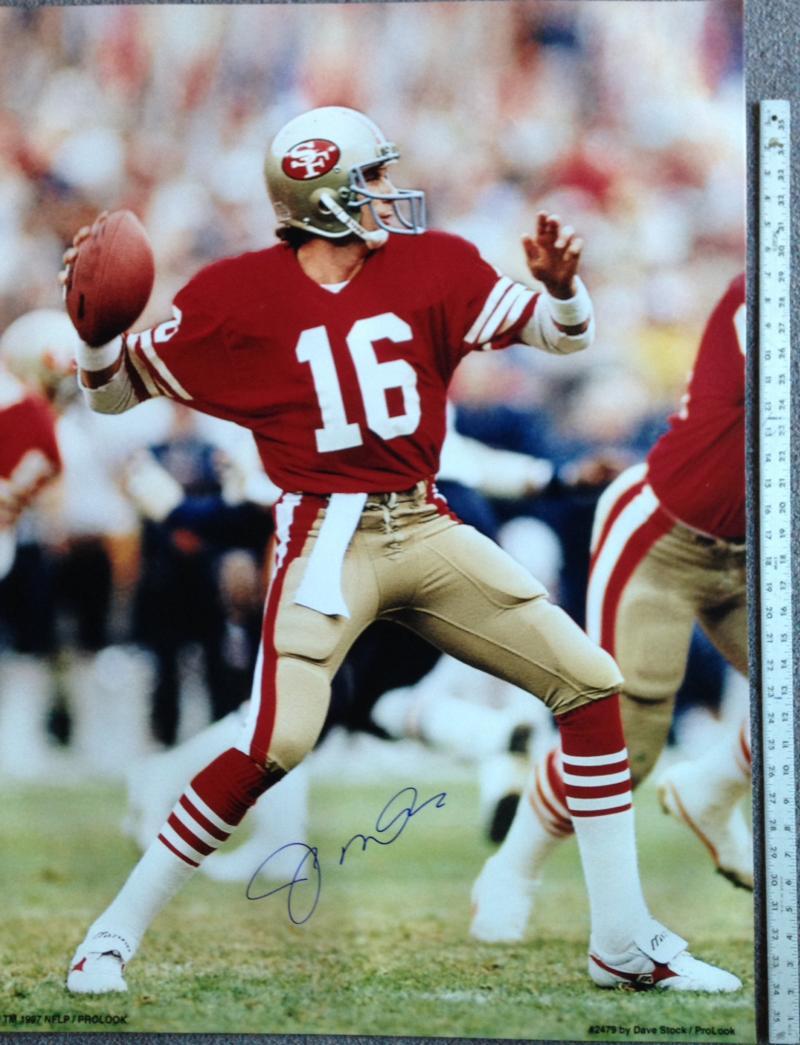 online store 34768 eeb75 Autographed 30x40 Joe Montana Photo/Sports Memorabilia ...