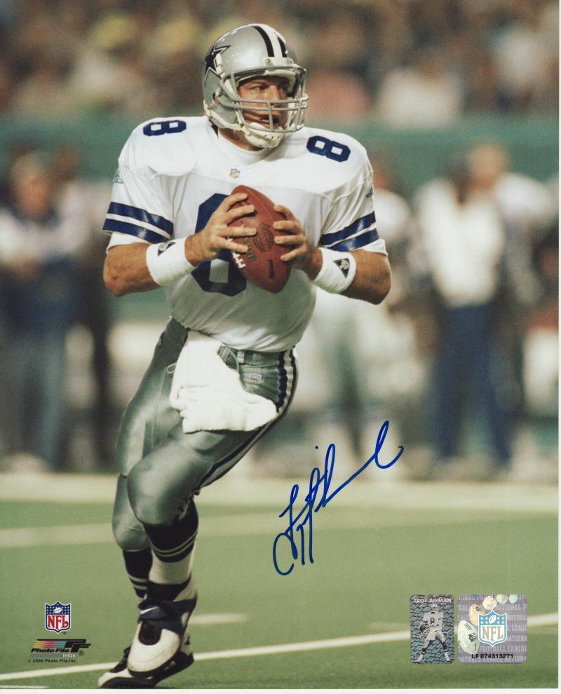 new concept d5144 1b6d5 Troy Aikman Autographed Photo Dallas Cowboys 8x10 #310 ...