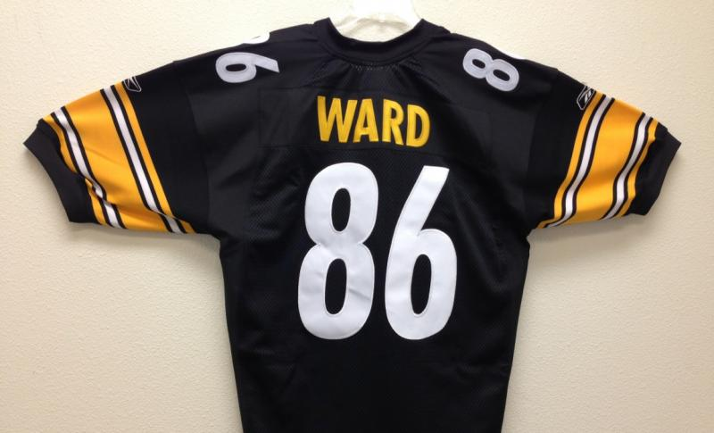 Hines Ward Authentic Steelers Jersey by Reebok, Black, size 56 ...