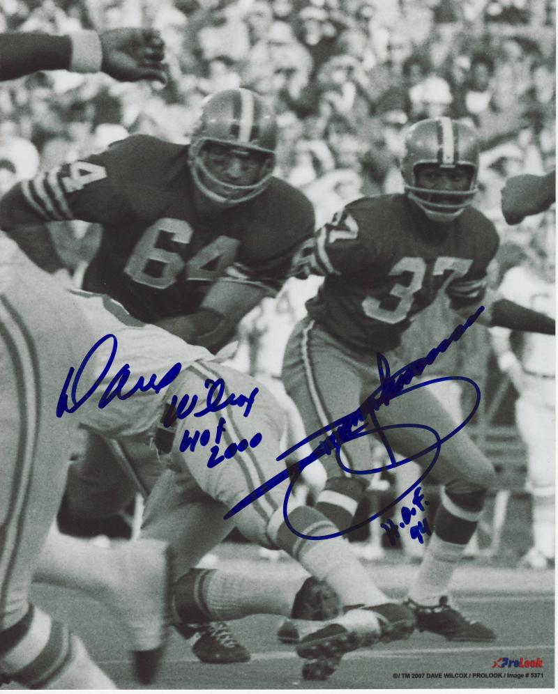 Dave Wilcox and Jimmy Johnson 8x10 photo